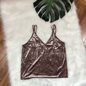 American Eagle Outfitters Velvet Camisole Festival
